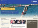 """Bedienerfreundliches, frisches Design der Brühler Homepage """"www.bruehl-baden.de"""""""